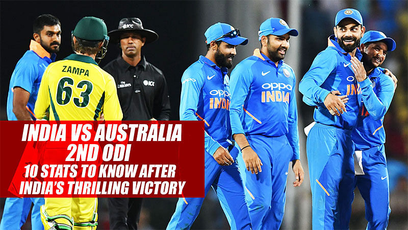 India vs Australia 2nd ODI | 10 Stats To Know After India's Thrilling Victory