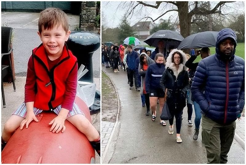Heartwarming! 5,000 people brave rain for stem cell test to help 5-year-old fighting cancer; see pics