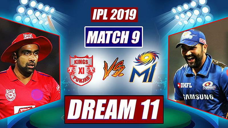 IPL 2019 KXIP vs MI Match 9: Probable Playing XI, Dream 11 Prediction