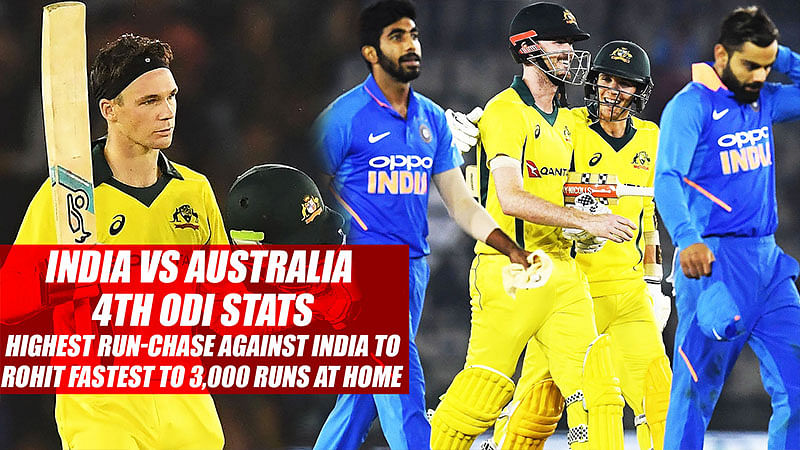 India vs Australia 4th ODI Stats: Highest Run-Chase vs India To Rohit Fastest To 3,000 Runs At Home