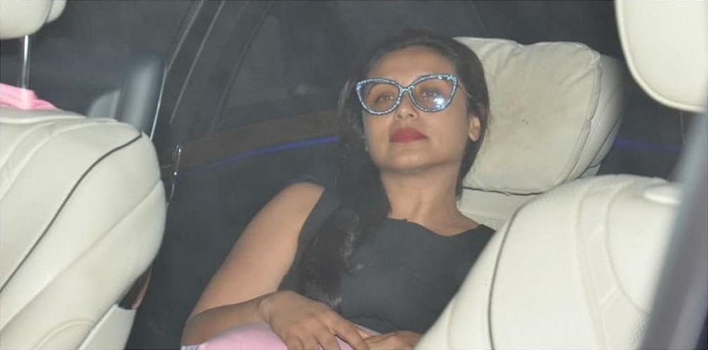 Karan Johar's mom Hiroo Johar's turns 76: Rani Mukerji, Aditya Chopra spotted at the filmmaker's residence