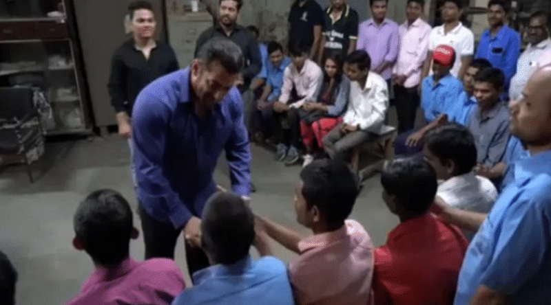 Salman Khan spends quality time with visually impaired people after wrapping up Bharat