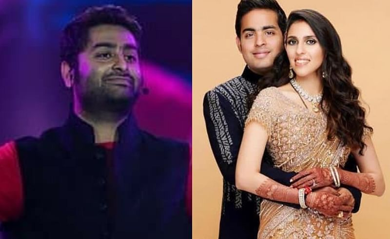 Watch Video! Arijit Singh performs at Akash Ambani and Shloka Mehta's wedding reception