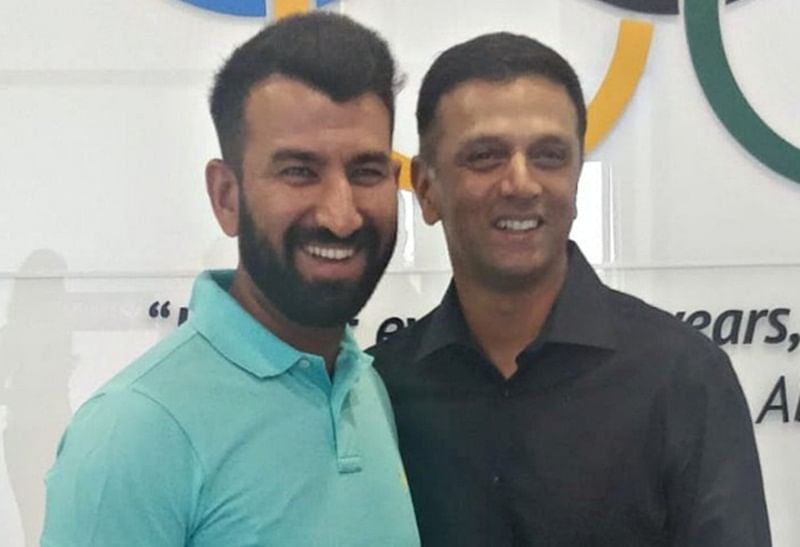 Quality Walls! Cricket fans come up with hilarious comments after Cheteshwar Pujara shares photo with Rahul Dravid