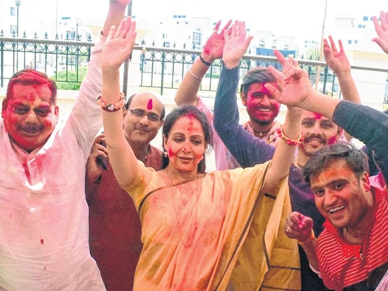 Feverish pitch: Election colours add to Holi fervour in Braj