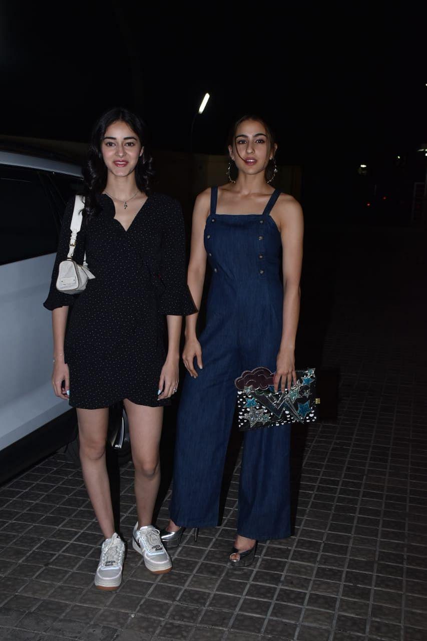 Ananya Pandey and Sara Ali Khan, Pic courtesy: Viral Bhayani