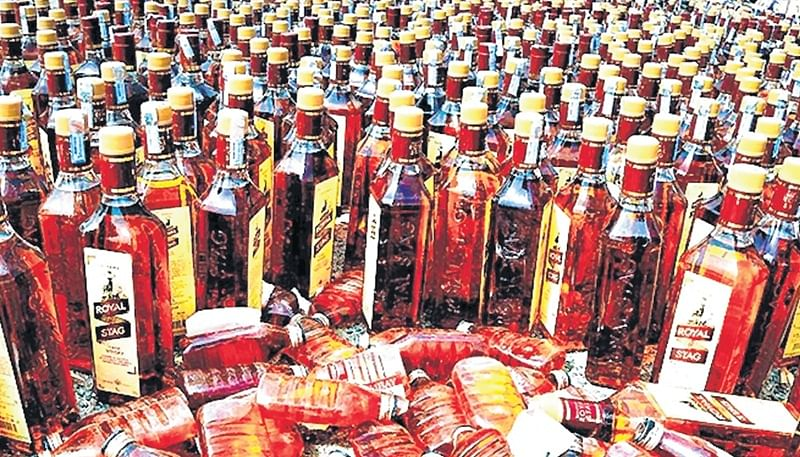 Liquor worth Rs 70 lakh seized from Navi Mumbai godown