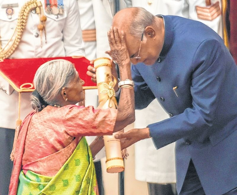 When Mother of Trees blessed the President Ram Nath Kovind