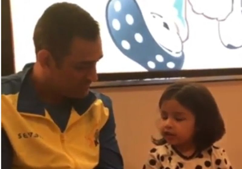 Super Six! MS Dhoni converses with daughter Ziva in six languages, watch video