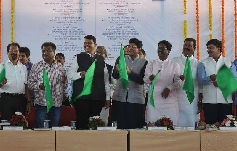 Mumbai: CM Devendra Fadnavis, Piyush Goyal inaugurate Parel Suburban Terminus