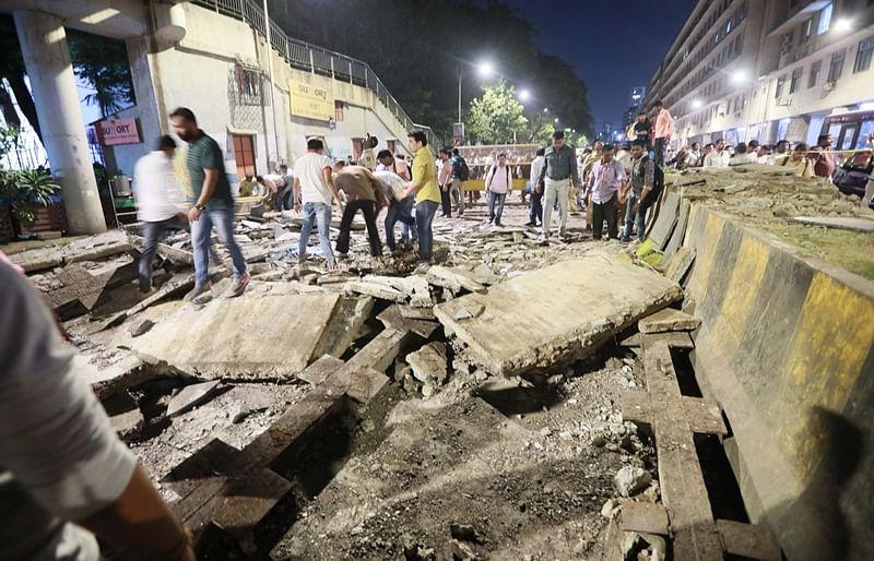 Mumbai: CSMT bridge that collapsed was under repair but in use