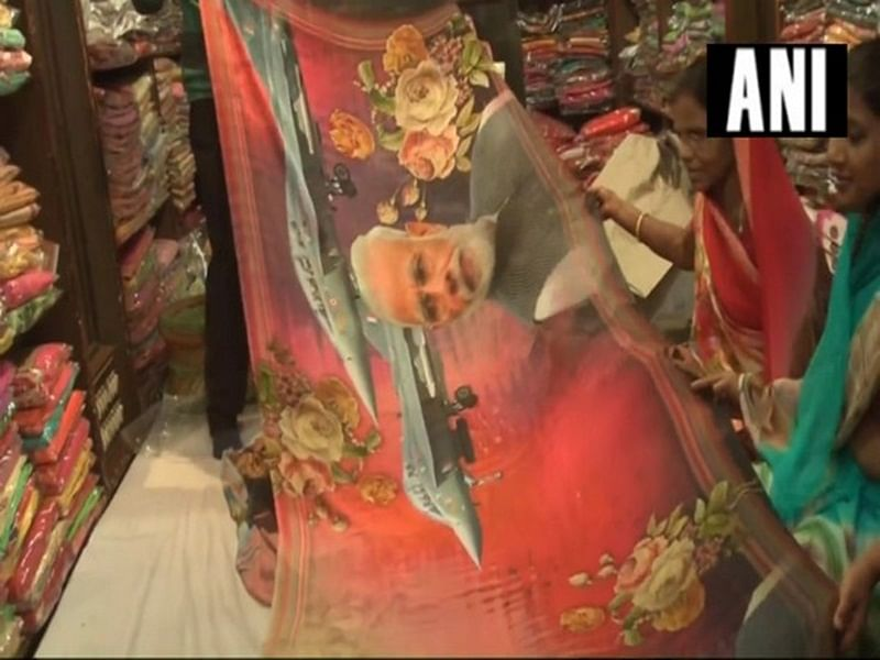 Sarees with Modi, IAF airstrike print creates buzz in Rajasthan