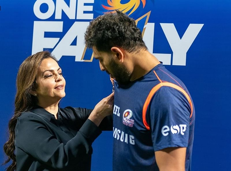 We are family! Nita Ambani welcomes Yuvraj Singh to Mumbai Indians ahead of 1st game, see pics