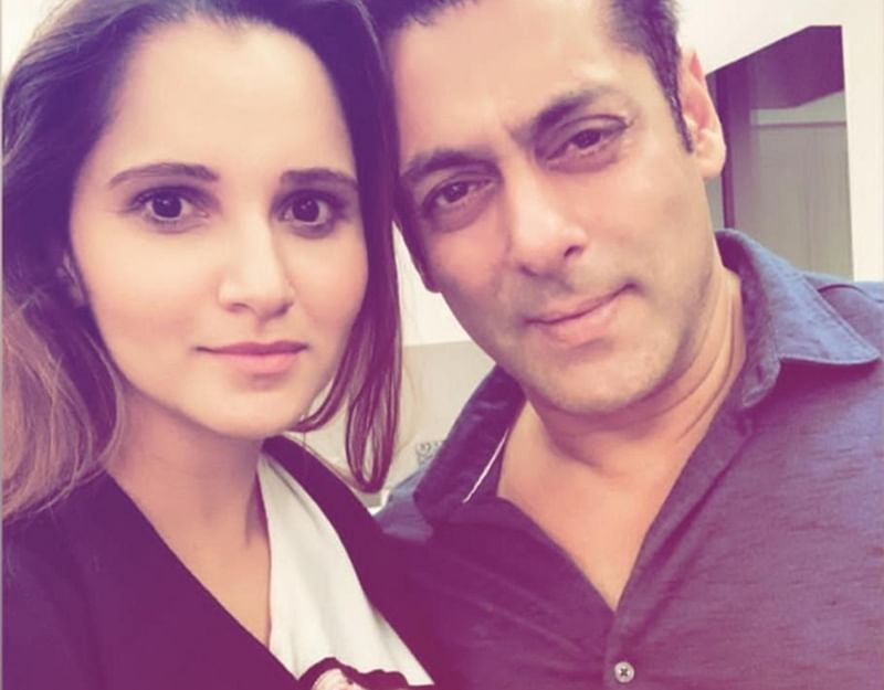 Sania Mirza strikes a pose with Salman Khan and calls him 'family'