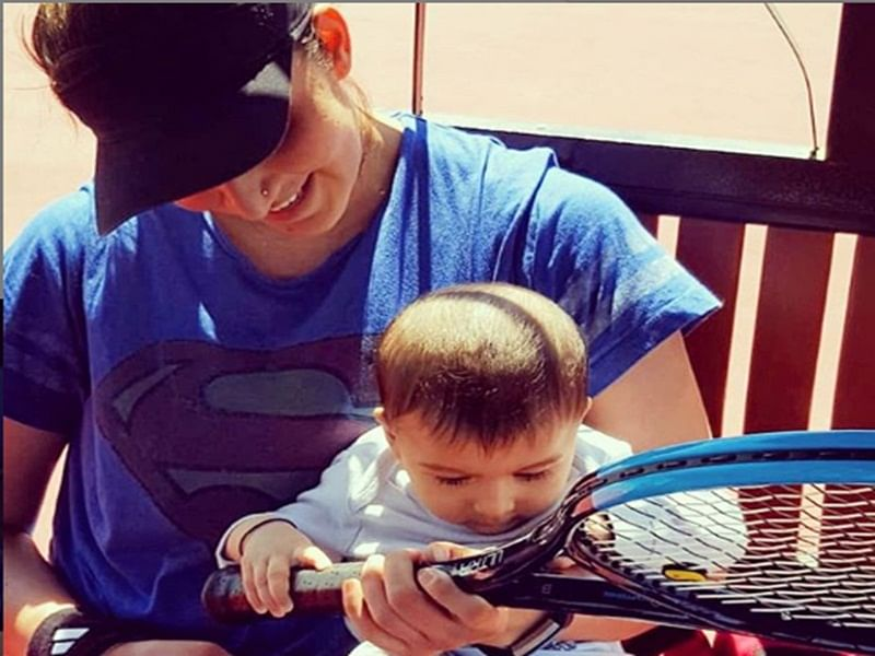 Cutie pie tennis player! Sania Mirza shares son Izhaan's photo holding tennis racket, check out photo