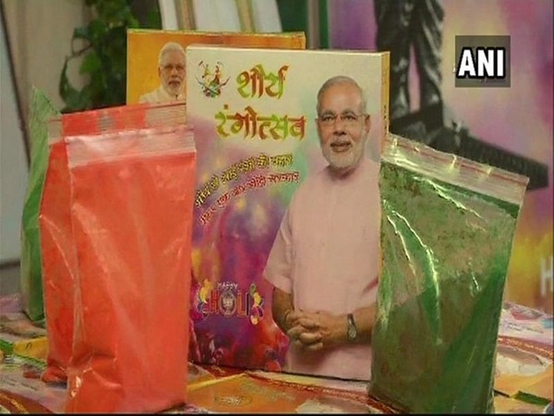 Ahead of Lok Sabha elections, 'Shaurya Gulaal' being sold at Jaipur BJP office