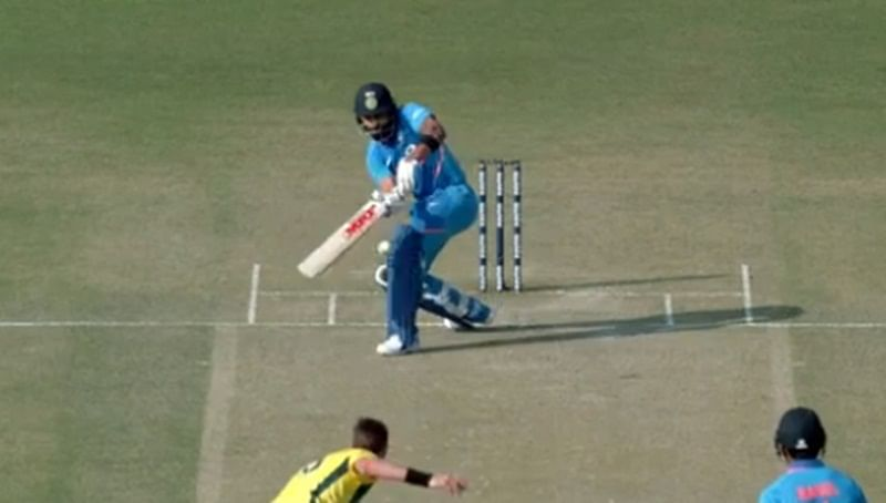 Virat Kohli's 'slap shot' could give serious competition to Dhoni's 'helicopter shot'; check it out