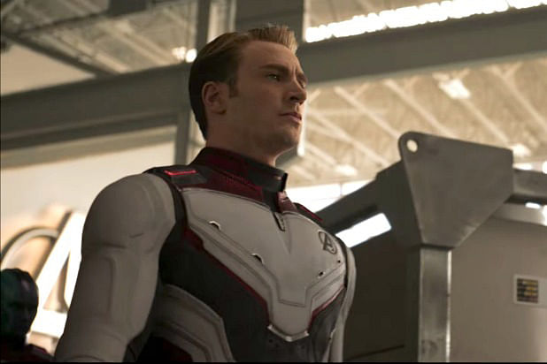 Captain America sporting the new suit