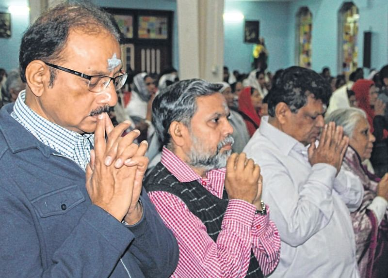 Indore: Lent season begins with Ash Wednesday ceremony in churches