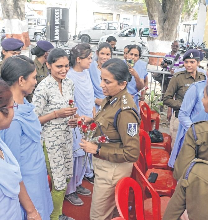 Indore: Female cops felicitated