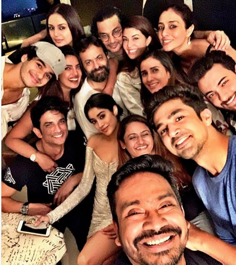 In picture! Sushant Singh Rajput, Priyanka Chopra, Janhvi Kapoor and others in most loaded Bollywood selfie