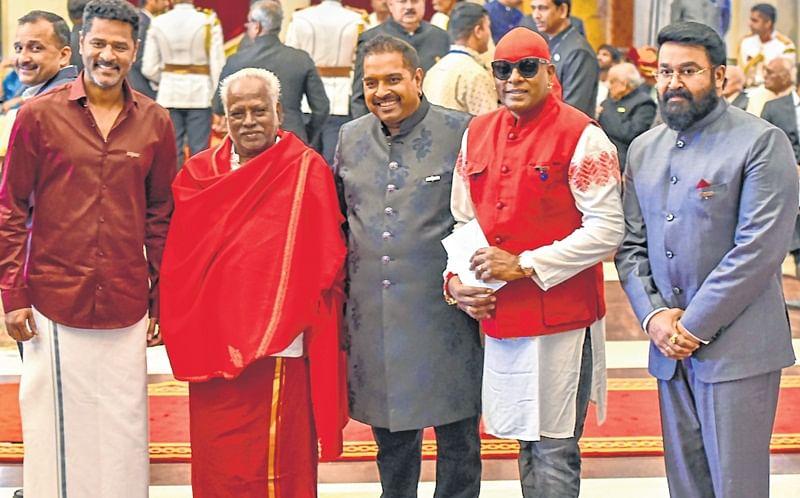 President confers Padma Awards: Prabhu Deva, Mohanlal and late Kader Khan among recipients