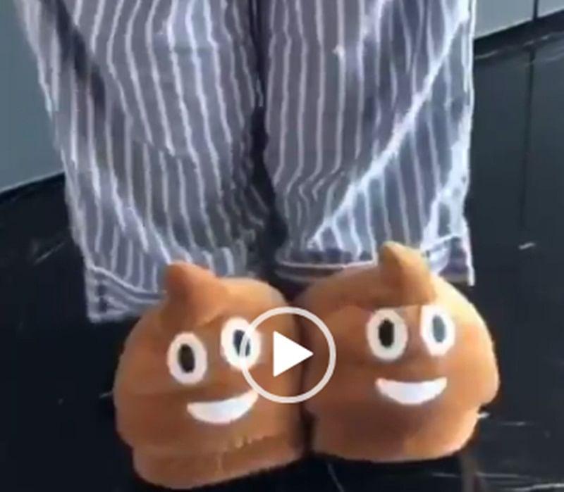 Deepika Padukone flaunts her poop emoji slippers gifted by hubby Ranveer Singh