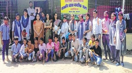Bhopal: Career College students organise Holi Milan at Habibiya Orphanage