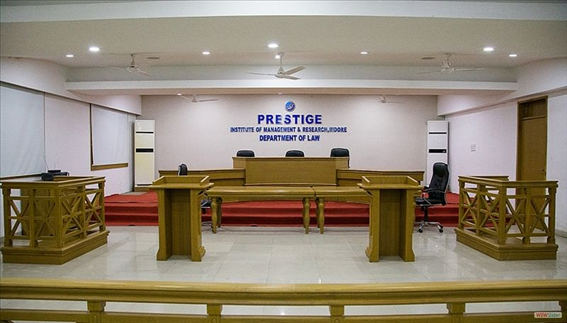 Indore: Prestige college law students protest seeking facilities