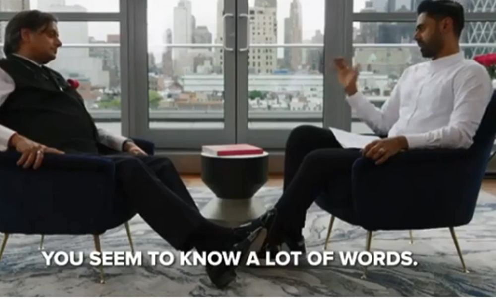 This video of Hasan Minhaj testing Shashi Tharoor's millennial vocabulary is beyond hilarious