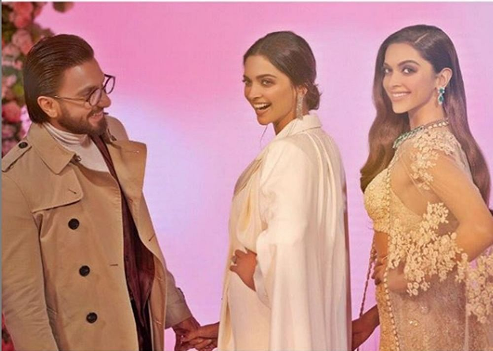 Two much to handle! Ranveer's caption for Deepika's wax statute is beyond hilarious