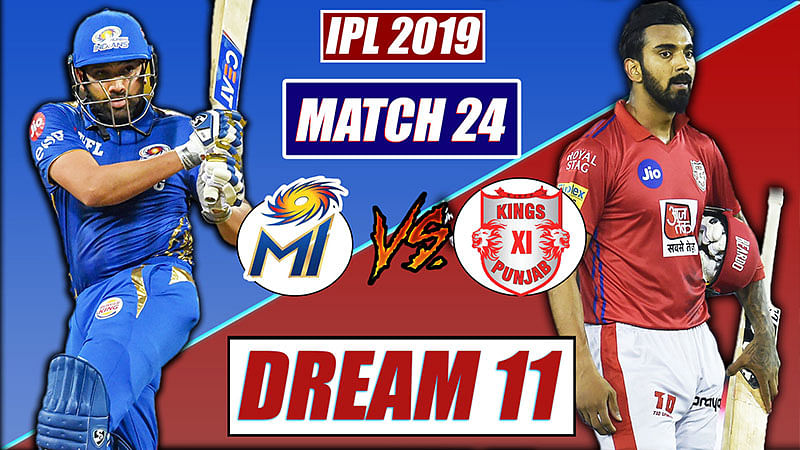 IPL 2019 MI vs KXIP Match 24 Dream 11 Team Prediction | Mumbai vs Punjab