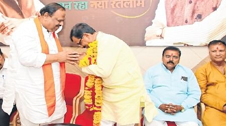 Bhopal: Damor accorded warm welcome in Ratlam