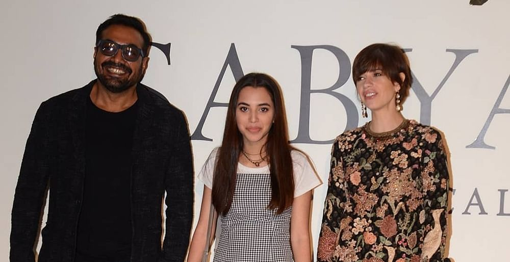 Kalki Koechlin poses with ex-husband Anurag Kashyap and his daughter Aaliyah