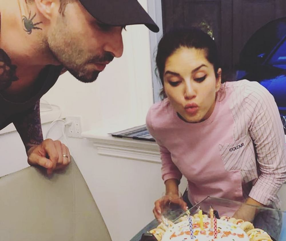 Sunny Leone says daughter Nisha's baked cake was the best part of wedding anniversary