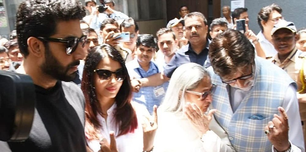 Is it allowed? Bachchan family cut line, get VIP entry at Juhu polling booth