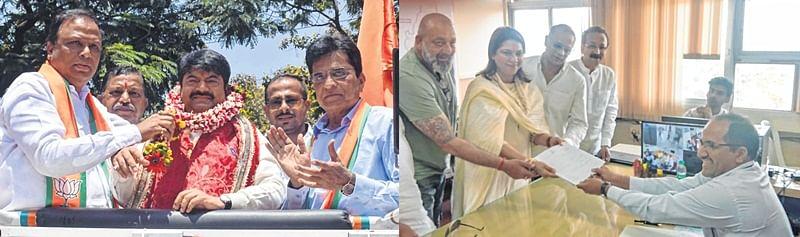 Manoj Kotak, Priya Dutt file nomination papers