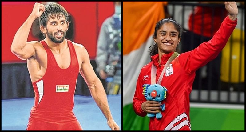 Vinesh Phogat, Bajrang Punia recommended for Khel Ratna award