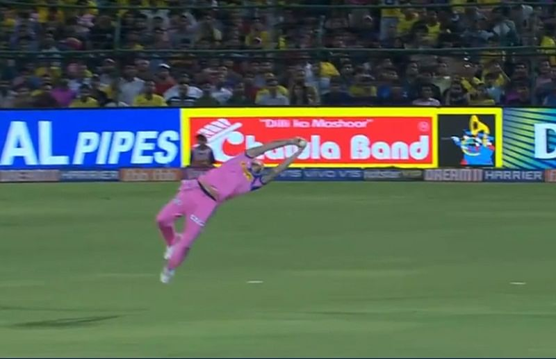Flying catch! Ben Stokes takes amazing dive in the air to catch Kedar Jadhav's shot, watch