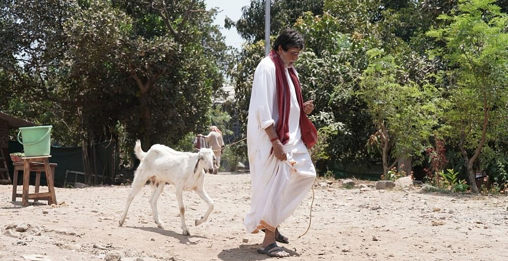 Big B 'walks' goat after Twitter banter with SRK on Badla's success party