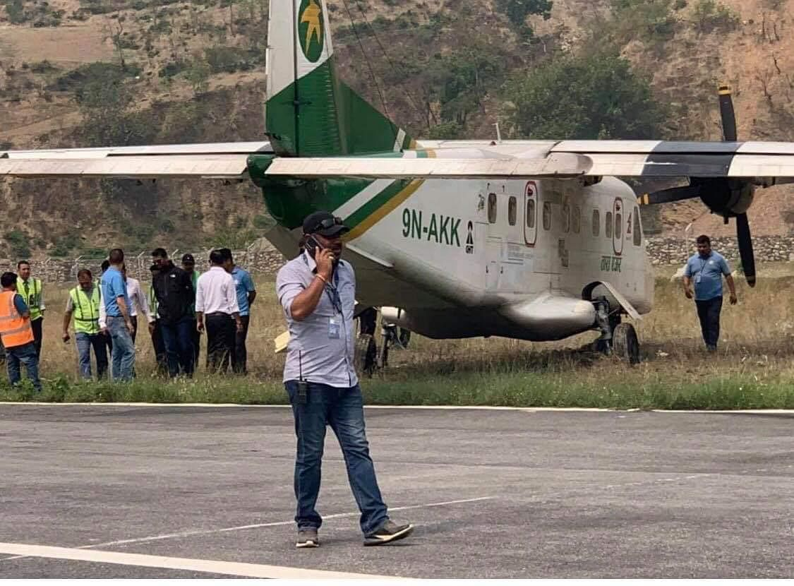 Tara Airline plane dives off the runway in Nepal