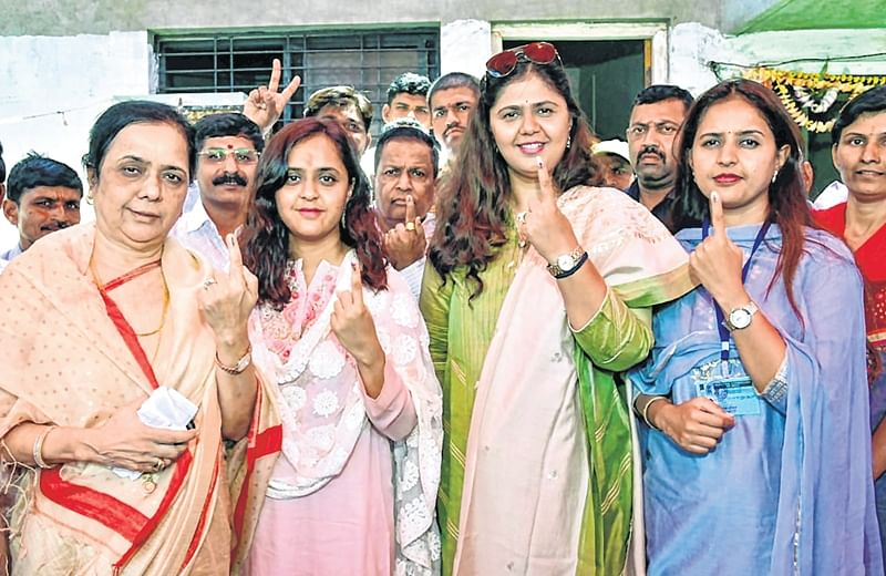 Lok Sabha elections 2019: 61.22% voter turnout in 2nd Phase of LS polls in Maharashtra