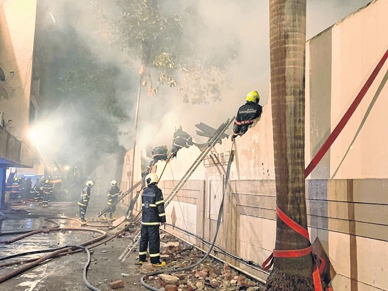 Mumbai: Major fire breaks out at Big Bazaar outlet in Matunga, luckily it was closed