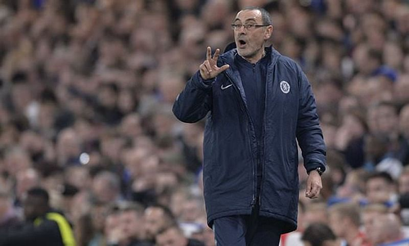 Chelsea manager Maurizio Sarri leaves technical area during match, charged with miscount