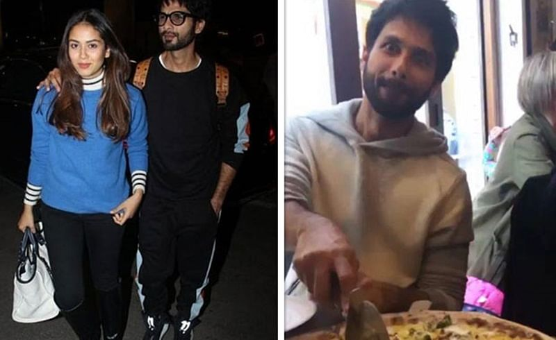 Here's why Shahid Kapoor gorging on pizza during their recent trip left Mira Rajput surprised!