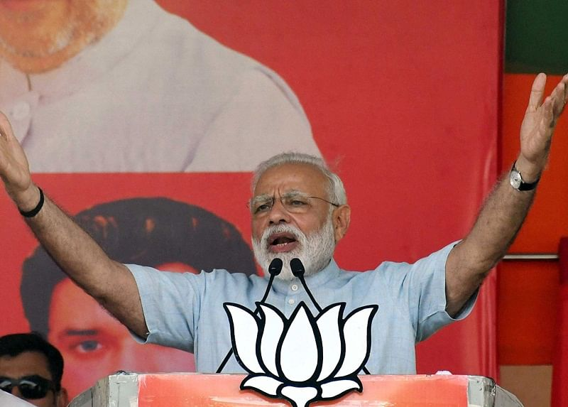 "PM Modi attacks Rahul Gandhi for ""all Modis are thieves"" remark"