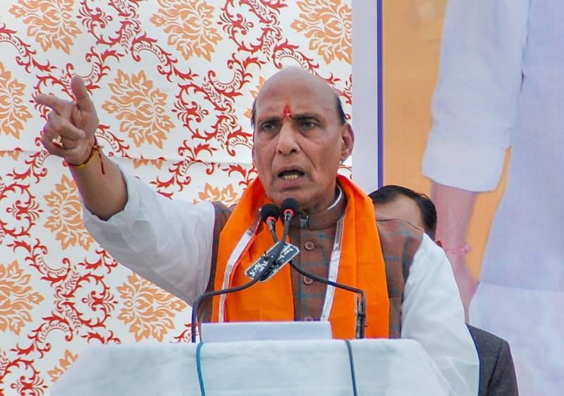 SP, BSP and Congress play politics of fear: Rajnath Singh