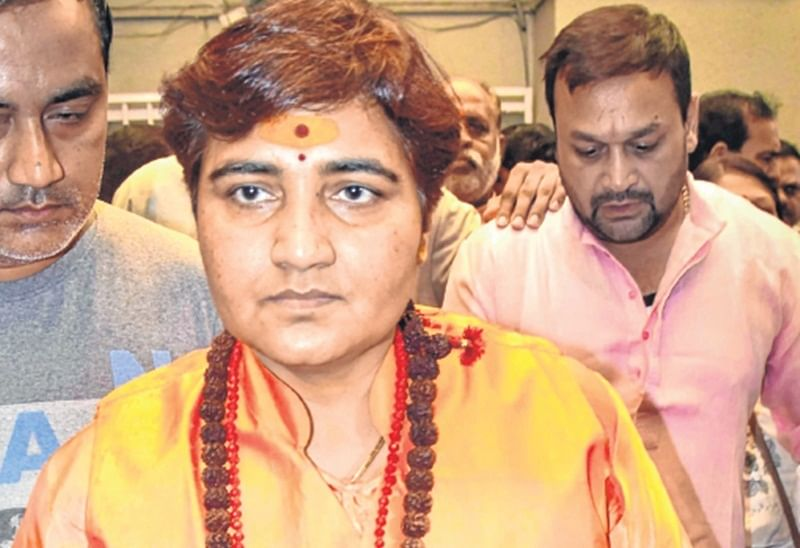Bhopal: Sadhvi files papers, links Hindutva with devpt