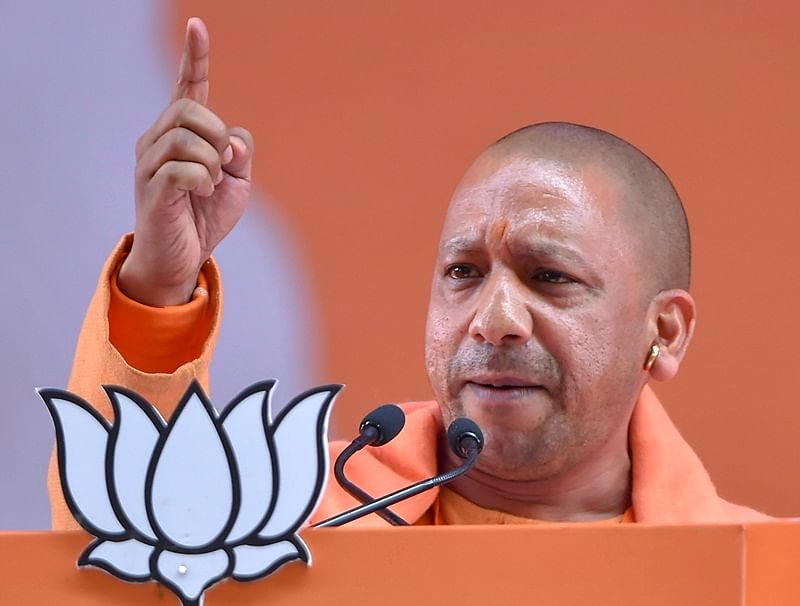 Congress has lies in its DNA: CM Yogi Adityanath