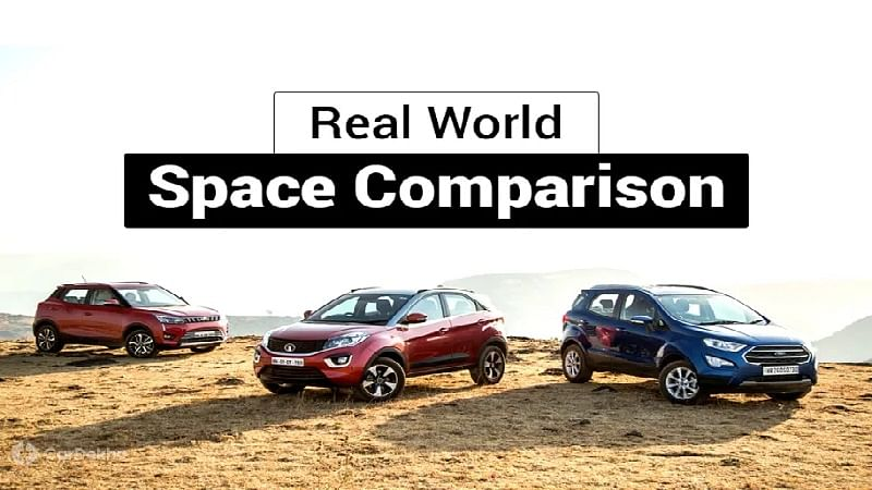 Mahindra XUV300 vs Maruti Vitara Brezza vs Tata Nexon vs Ford EcoSport vs Honda WR-V: Real-world Space Comparison